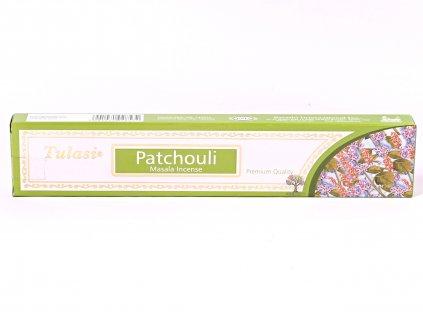 Vonné tyčinky Tulasi Premium Patchouli - 12 ks #68  + sleva 5% po registraci na většinu zboží + dárek k objednávce
