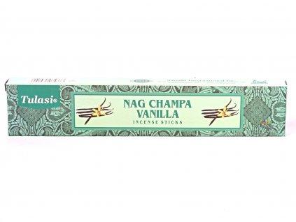 Vonné tyčinky Tulasi Premium Nag Champa Vanilla - 12 ks #70  + až 10% sleva po registraci