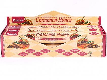 Vonné tyčinky Tulasi Cinnamon Honey - 20 ks - #76  + sleva 5% po registraci na většinu zboží + dárek k objednávce
