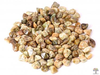 Tromlované kamínky Granát zelený M - 1 kg -  kameny o velikosti 15 - 30 mm - Afrika  + sleva 5% po registraci na většinu zboží + dárek k objednávce