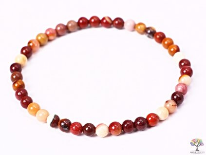 Náramek Mokait - 4 mm kuličky #97 - z přírodních kamenů  + sleva 5% po registraci na většinu zboží + dárek k objednávce