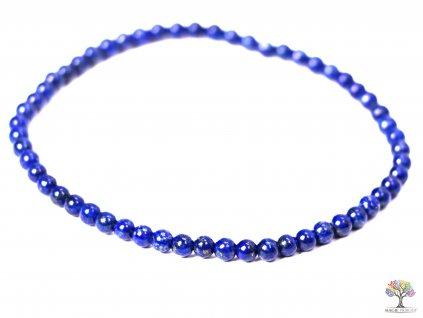 Náramek Lapis Lazuli - 3 mm kuličky #107 - z přírodních kamenů