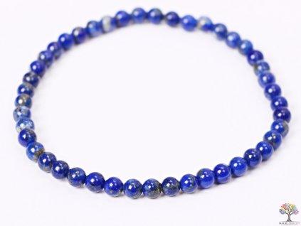 Náramek Lapis Lazuli - 4 mm kuličky #108 - z přírodních kamenů  + sleva 5% po registraci na většinu zboží + dárek k objednávce