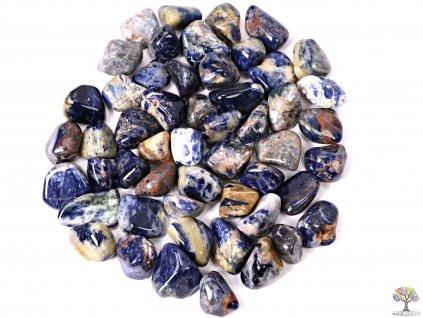 Tromlované kamínky Sodalit XL - kameny o velikosti 30 - 45 mm - 500g - Brazílie