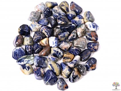 Tromlované kamínky Sodalit XL - kameny o velikosti 30 - 45 mm - 100g - Brazílie