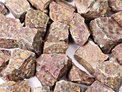 Jaspis mušlový 3 - 7 cm - 100g - surový kámen - TOP kvalita  + až 10% sleva po registraci
