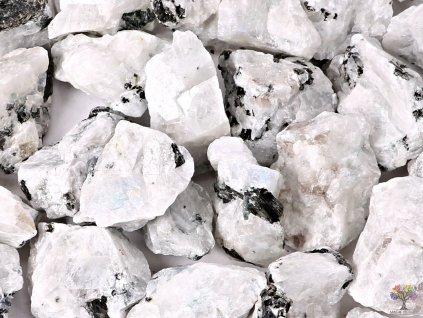 Měsíční kámen bílý 3 - 7 cm - 500g - surový kámen - TOP kvalita  + sleva 5% po registraci na většinu zboží + dárek k objednávce