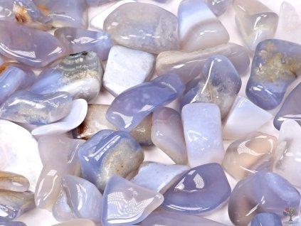 Tromlované kamínky Chalcedon modrý L - kameny o velikosti 20 - 45 mm - 1kg - Brazílie  + až 10% sleva po registraci