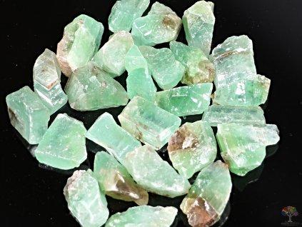 Kalcit smaragdový - zelený surový 2 - 4 cm - 100g - Mexiko