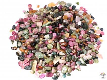 Tromlované kamínky Turmalín barevný XS o velikosti 8 - 20 mm - 1 kg - Brazílie  + až 10% sleva po registraci