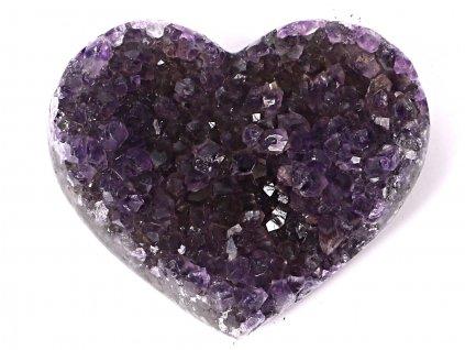 Ametyst drúza Srdce - Top kvalita - 160g #25  + sleva 5% po registraci na většinu zboží + dárek k objednávce
