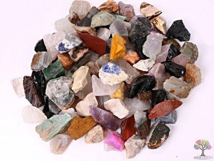 MIX surové kameny 2 - 7 cm - 500g - TOP kvalita  + až 10% sleva po registraci