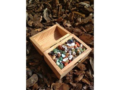 Magická truhlička s tromlovanými kamínky - #05