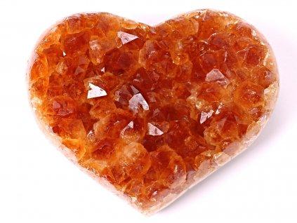 Citrín drúza Srdce - Top kvalita - 310g #34  + sleva 5% po registraci na většinu zboží + dárek k objednávce