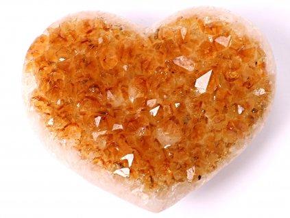 Citrín drúza Srdce - Top kvalita - 290g #35  + sleva 5% po registraci na většinu zboží + dárek k objednávce