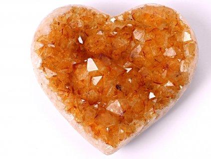 Citrín drúza Srdce - Top kvalita - 240g #36  + sleva 5% po registraci na většinu zboží + dárek k objednávce