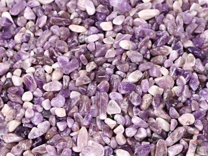 Tromlované kamínky Ametyst XS o velikosti 8 - 15 mm - 100g - Malawi