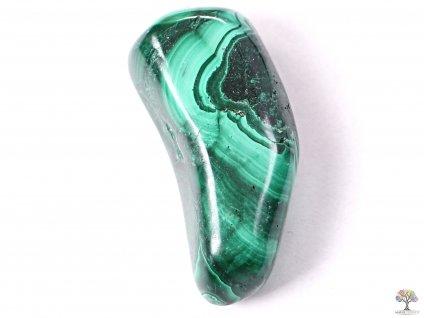 Tromlovaný kámen Malachit XXL o velikosti 40 - 50 mm - 1 ks - Maroko  + až 10% sleva po registraci
