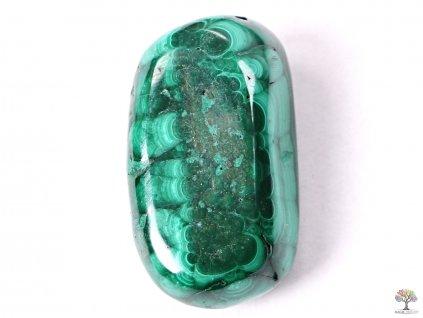 Tromlovaný kámen Malachit XL o velikosti 30 - 40 mm - 1 ks - Maroko  + sleva 5% po registraci na většinu zboží + dárek k objednávce