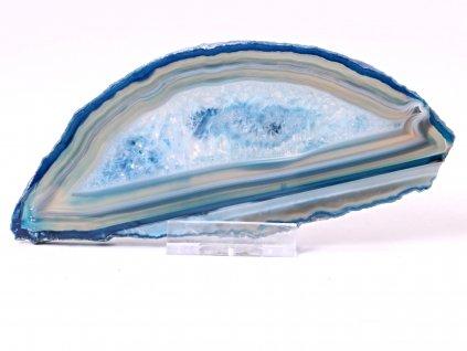 Achátový plát - velikost 14 cm + stojánek - Top kvalita - 828  + až 10% sleva po registraci