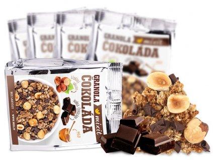 Granola z pece Čokoláda a lískové ořechy do kapsy (5 ks