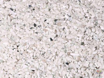 Tromlované kamínky Měsíční kámen bílý XXXS o velikosti 2 - 8 mm - 100g - Brazílie