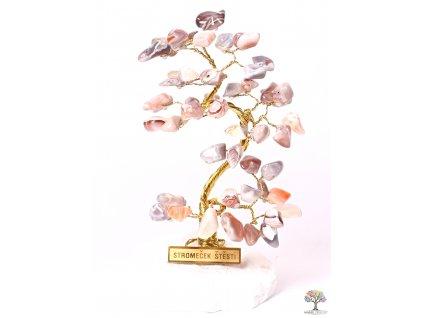 Achátový stromeček štěstí 14 cm - B0 - #184
