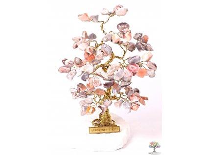 Achátový stromeček štěstí 18 cm - B2 - #185  + sleva 5% po registraci na většinu zboží + dárek k objednávce