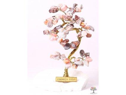 Achátový stromeček štěstí 15 cm - B1 - #186