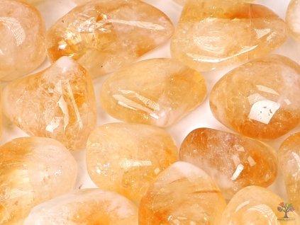 Tromlované kamínky Citrín XXL - kameny o velikosti 35 - 50 mm - 500g - Brazílie  + až 10% sleva po registraci