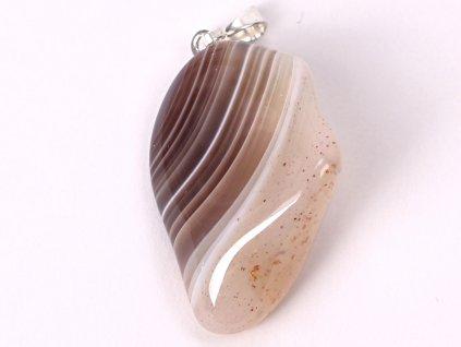 Přívěsek z kamene Achát šedý Botswana vel. M - #22  + až 10% sleva po registraci