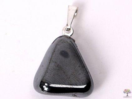 Přívěsek z kamene Hematit vel. S - #37