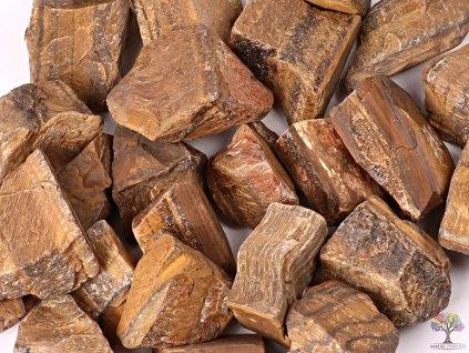 Tygří oko surový kámen 3 - 5 cm - 100g - TOP kvalita  + až 10% sleva po registraci