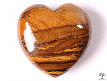 Srdce Tygří kůže 40x40 mm - tygří oko srdce  #13  + až 10% sleva po registraci
