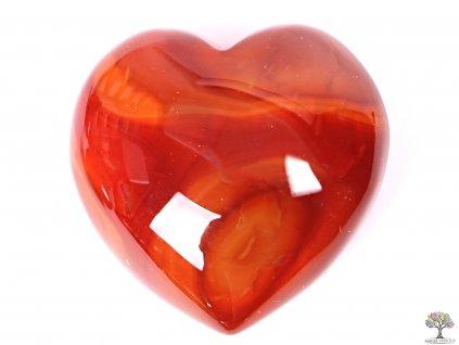 Srdce Karneol 40x40 mm - Karneolové srdce  #14  + až 10% sleva po registraci