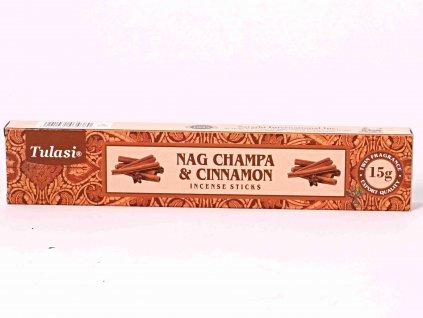 Vonné tyčinky Tulasi Premium Nag Champa Cinnamon - 12 ks #79  + až 10% sleva po registraci