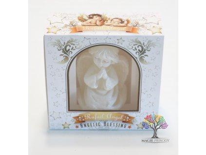 Svíčka anděl Rafael - Angel 85 mm v boxu - Blessing