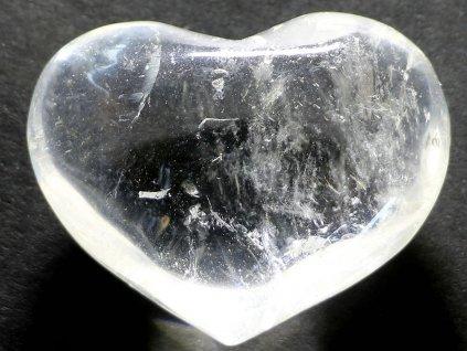 Srdce křišťál - průzračné 106g - konkrétní #06  + až 10% sleva po registraci