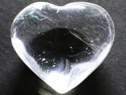Srdce křišťál - průzračné 52g - konkrétní #07