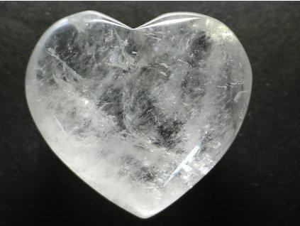 Srdce křišťál - průzračné 81g - konkrétní #08