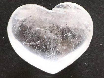 Srdce křišťál - průzračné 63g - konkrétní #10