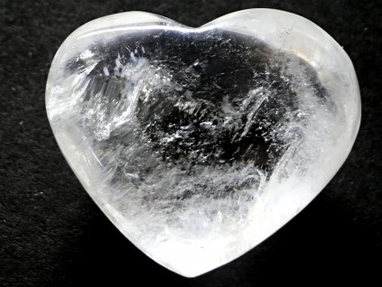 Srdce křišťál - průzračné 59g - konkrétní #11