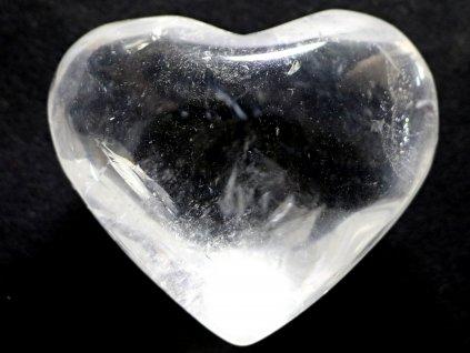 Srdce křišťál - průzračné 87g - konkrétní #12