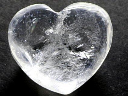 Srdce křišťál - průzračné 54g - konkrétní #24