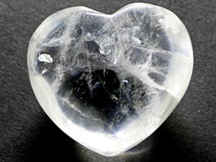 Srdce křišťál - průzračné 44g - konkrétní #26  + až 10% sleva po registraci