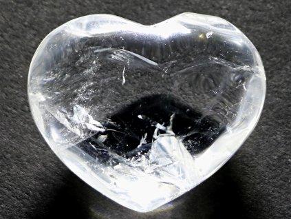 Srdce křišťál - průzračné 44g - konkrétní #33  + až 10% sleva po registraci