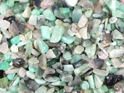 Tromlované kamínky Smaragd XXXS velikost 2 - 8 mm - Brazílie