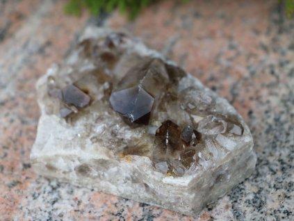 Záhněda drúza 398g - surový kámen - #07