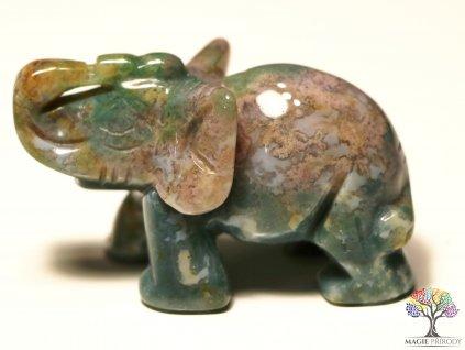 Slon Jaspis 30x50 mm - Slon z přírodního kamene #10