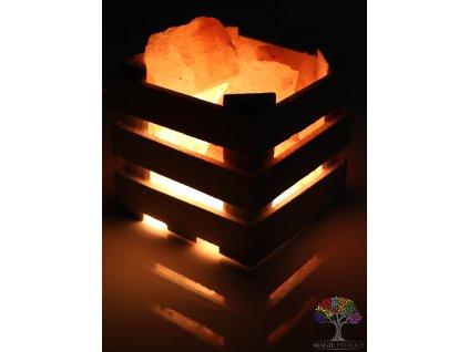 Solná lampa elektrická dřevěný koš 2.00 Kg #39